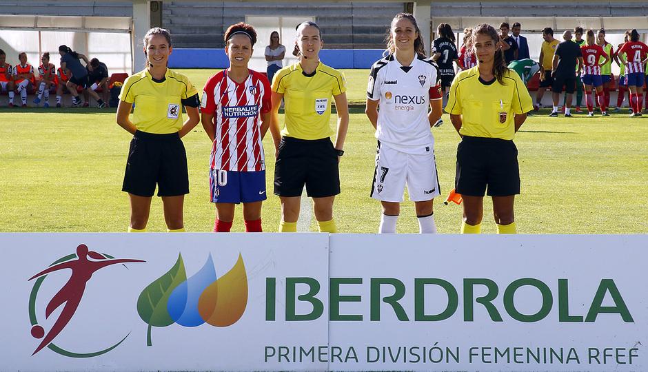 Temp. 2017-18 | Fundación Albacete - Atlético de Madrid Femenino | Capitanas