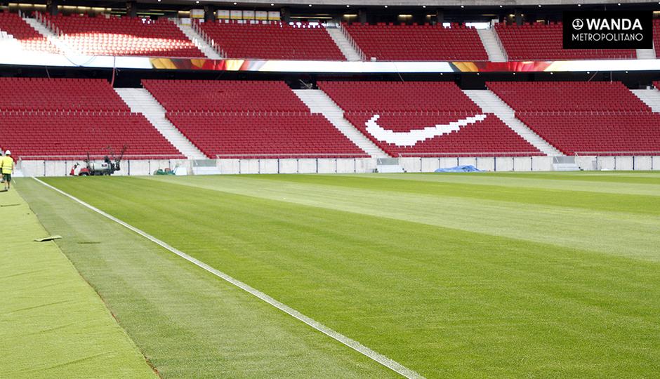 Wanda Metropolitano | 11/09/2017 | Pintura césped