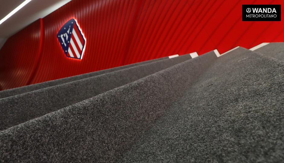 Temporada 2017-18. Túnel vestuarios Wanda Metropolitano
