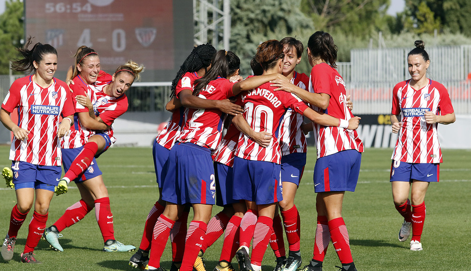 Temp. 17-18 | Atlético de Madrid Femenino - Athletic Club | Celebración Piña