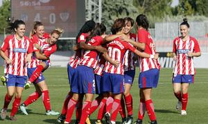 Temp. 17-18 | Atlético de Madrid Femenino - Athletic Club | Celebración Piña
