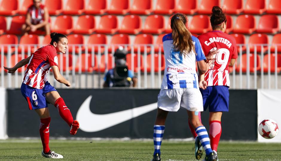 Temporada 17/18. Partido entre el Atlético de Madrid Femenino contra el Sporting de Huelva. Gol de Kaci.