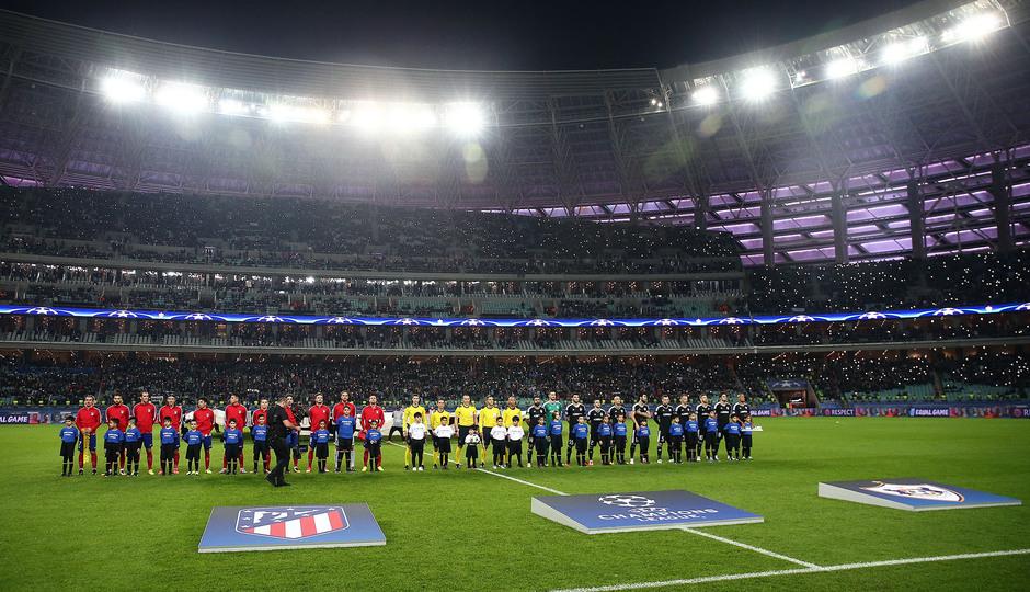Temp. 17/18   Qarabag - Atlético de Madrid   Onces
