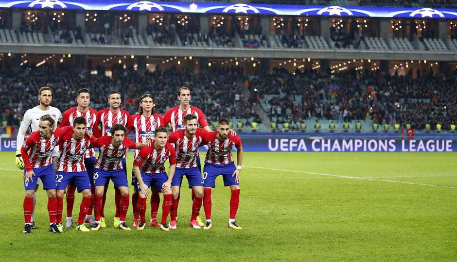 Temp. 17/18   Qarabag - Atlético de Madrid   Once