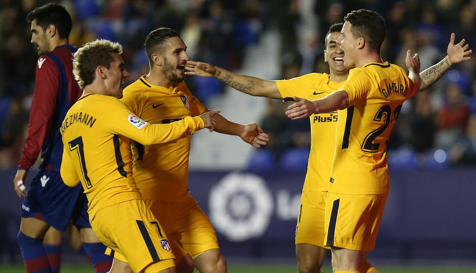 Temp. 17-18 | Levante - Atlético de Madrid | Celebración