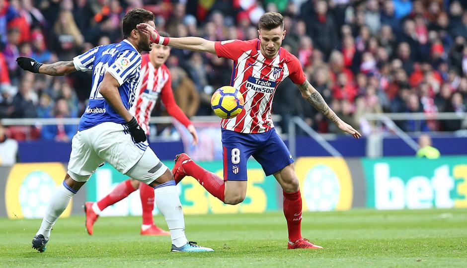 Temporada 17/18 | Atlético - Real Sociedad | Saúl