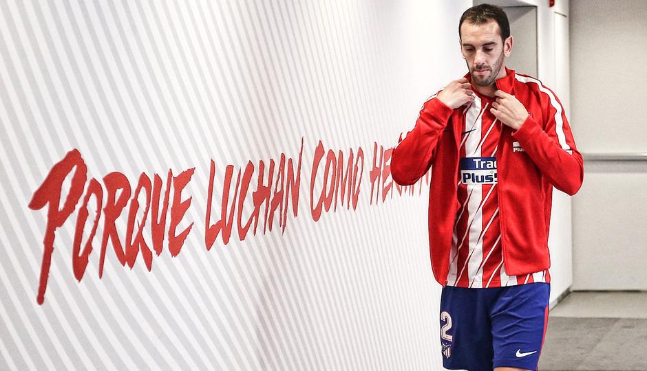 Temp. 2017-2018. Atlético de Madrid-Real Sociedad. Godín