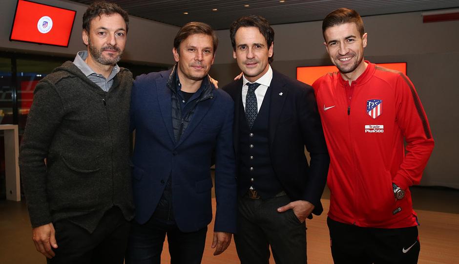 Temp. 17-18 | Cena Leyendas Atlético de Madrid en el Wanda Metropolitano | Santi, Toni, García Calvo y Gabi