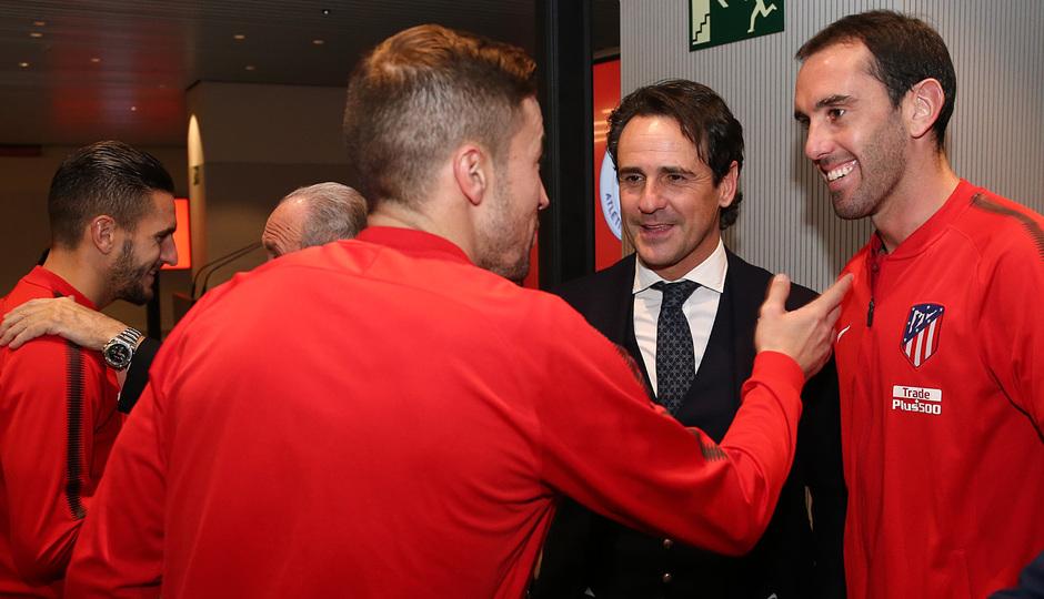 Temp. 17-18 | Cena Leyendas Atlético de Madrid en el Wanda Metropolitano | Godín, Gabi y Garcia Calvo