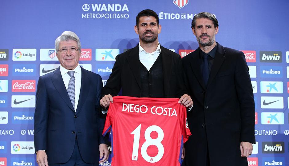 Presentación Diego Costa en el Wanda Metropolitano