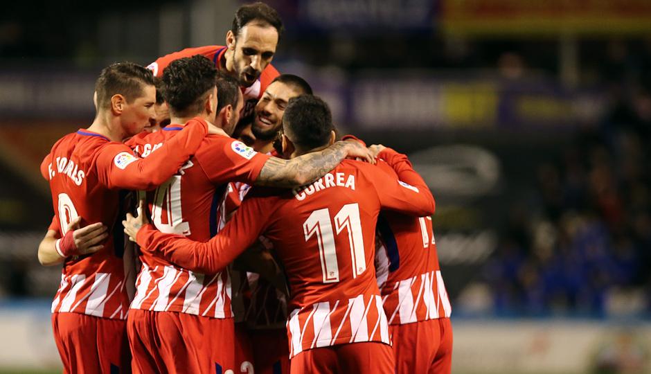 Temp. 17-18 | Copa del Rey | Lleida - Atlético de Madrid | Celebración