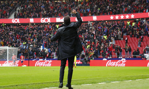 Temporada 17/18 | Atlético - Getafe | Celebracion Simeone.