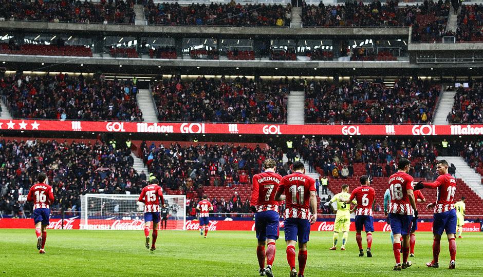 temporada 17/18. Partido Wanda Metropolitano. Atlético Getafe . La otra mirada.Alberto