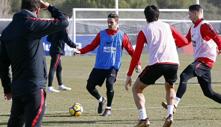 Temporada 17/18 | Entrenamiento en la Ciudad Deportiva Wanda | 12/01/2018 | Koke