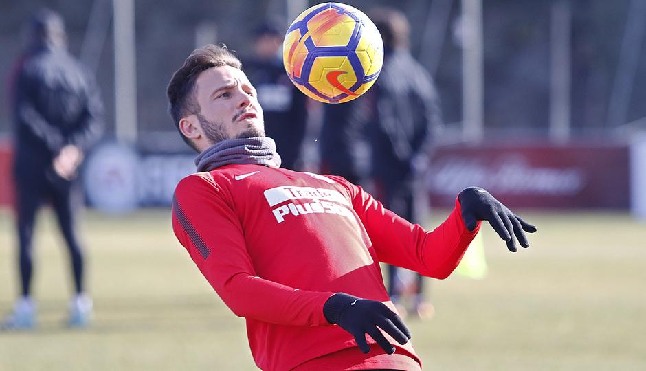Temporada 17/18 | Entrenamiento en la Ciudad Deportiva Wanda | 12/01/2018 | Saúl