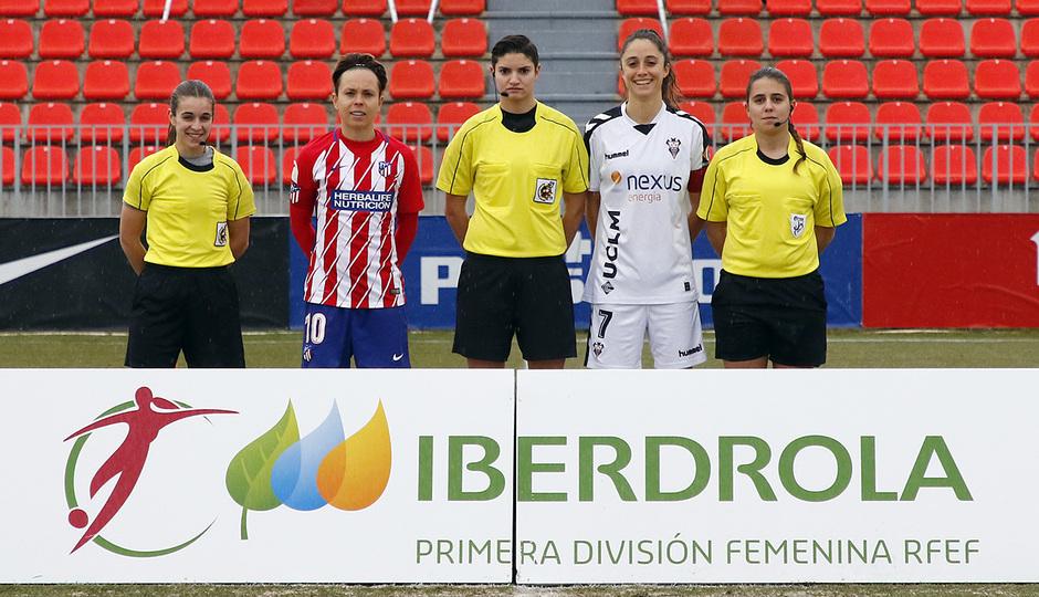 Temp. 17-18 | Atlético de Madrid Femenino - Fundación Albacete | Capitanes y árbitros