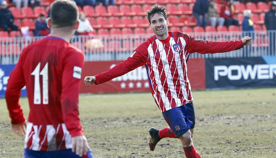 Temporada 17/18 | Atlético B - Adarve | Celebración, gol de Jorge Ortiz