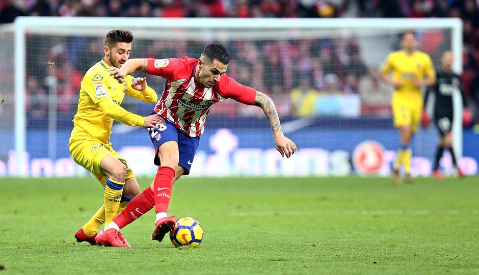 temporada 17/18. Partido Wanda Metropolitano. Atlético Las Palmas. Vitolo