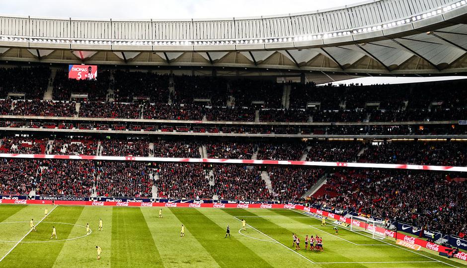 temporada 17/18. Partido Wanda Metropolitano. Atlético Las Palmas. Alex