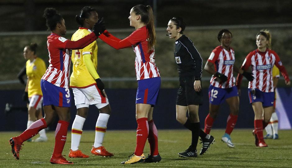 Temp. 17-18 | Atlético de Madrid Femenino - Santa Fe | Celebración