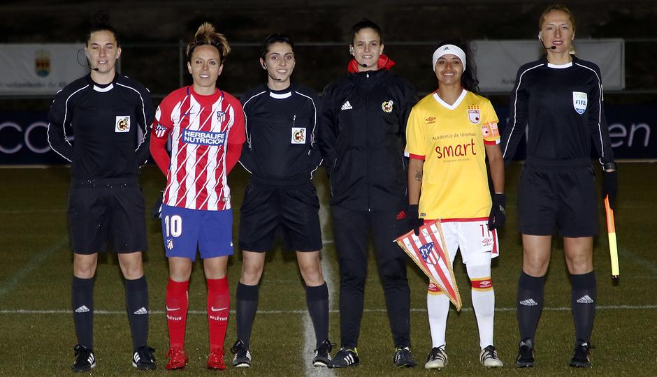 Temp. 17-18 | Atlético de Madrid Femenino - Santa Fe | Capitanas
