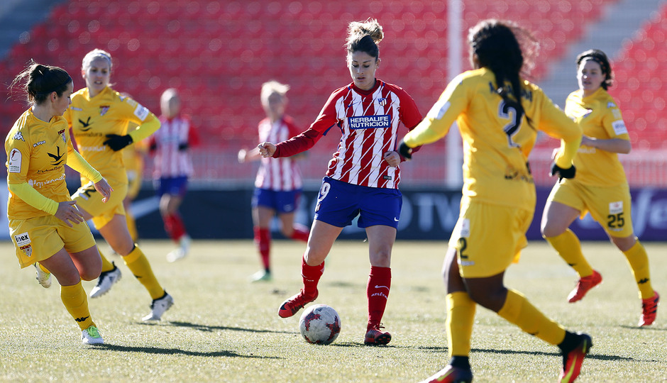 Temporada 17-18. Partido Atlético de Madrid femenino- Santa Teresa. Esther.