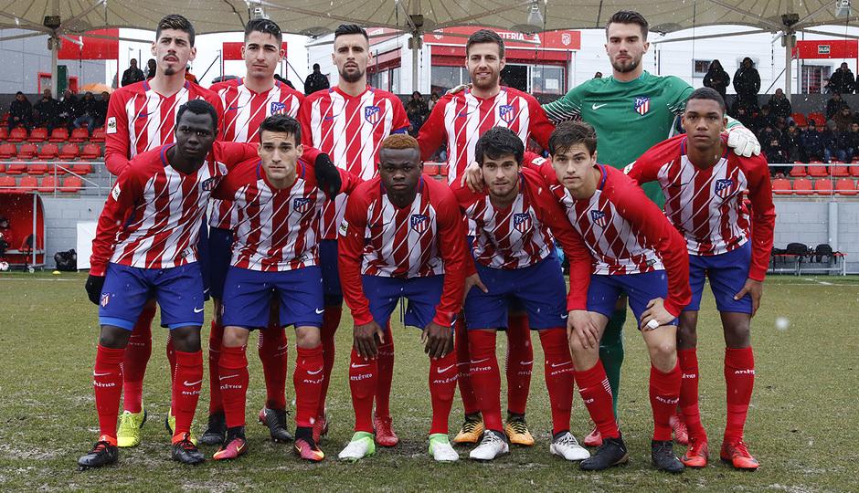 Temp. 17-18 | Atlético de Madrid B - Rápido de Bouzas | Once