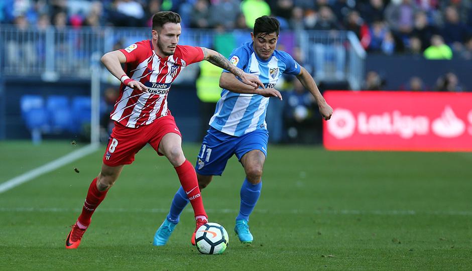 Temp. 17-18 | Málaga - Atlético de Madrid | Saúl