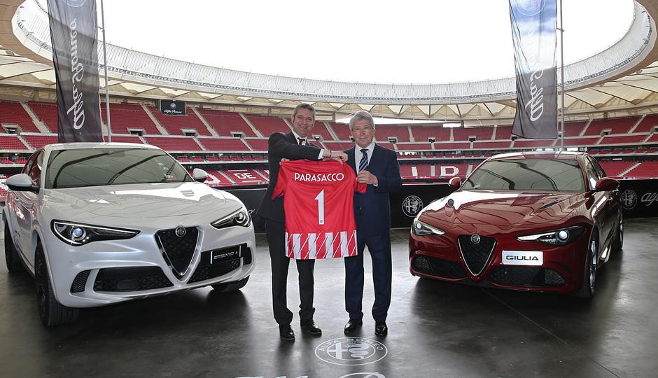 temporada 17/18. Acto Alfa Romeo Wanda Metropolitano. Cerezo