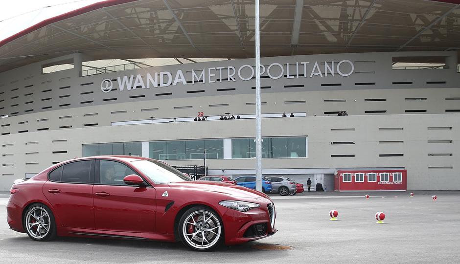 temporada 17/18. Acto Alfa Romeo Wanda Metropolitano. Moyá y Gené