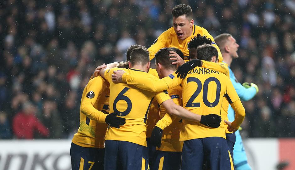 Europa League | Copenhague - Atleti - Gol de Gameiro celebración.