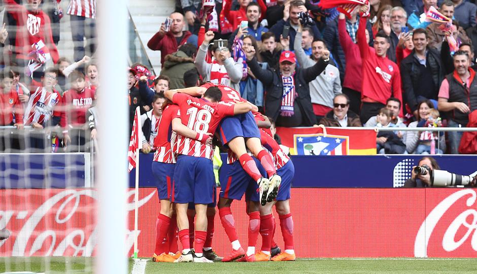 Jornada 24 | Atleti - Athletic | Celebración gol Gameiro