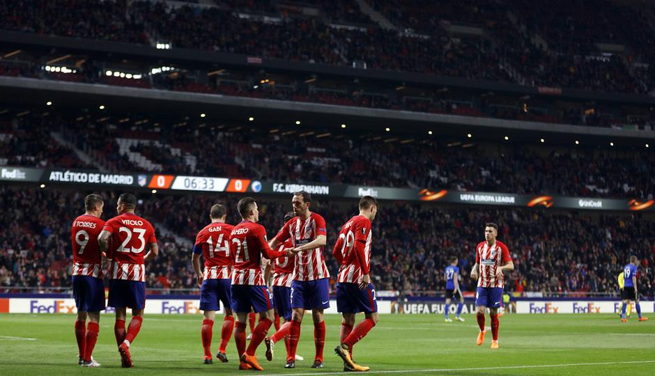 Europa League | Atleti - Copenhague | Celebración gol Gameiro