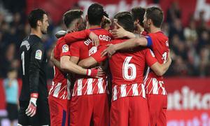 Jornada 25 | 25-02-18 | Sevilla - Atleti | Griezmann celebración