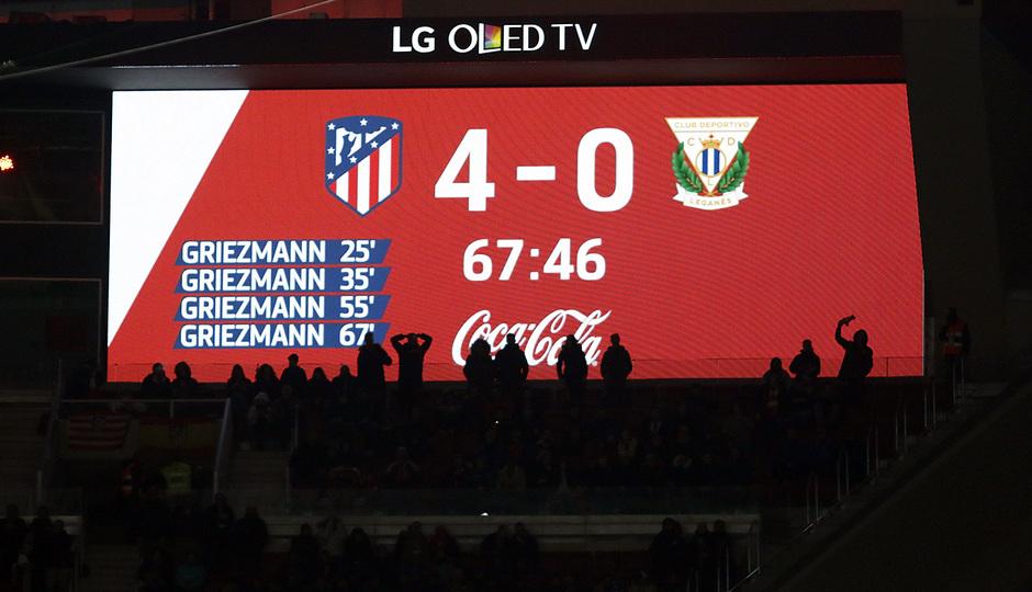 Jornada 26 | Atleti - Leganés | 4-0 marcador