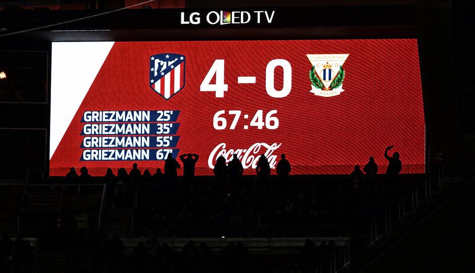 Temporada 17/18 | Atlético - Leganés | La otra mirada | Marcador, 4-0 (Alberto)