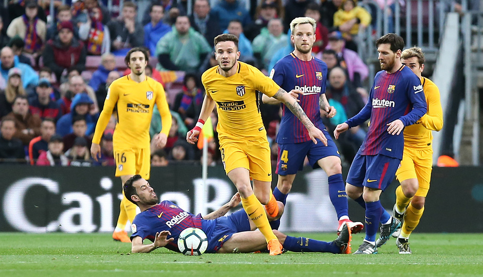 Temporada 2017-18 | Barcelona -Atlético de Madrid | Saúl