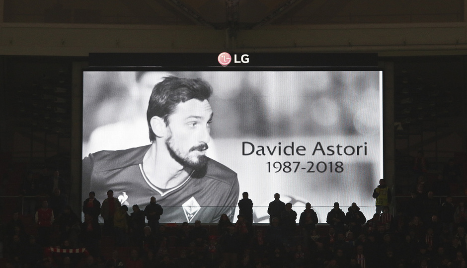 Temp. 17/18 | Ida de octavos | 08/03/18 | Atlético de Madrid - Lokomotiv | Minuto silencio Astori