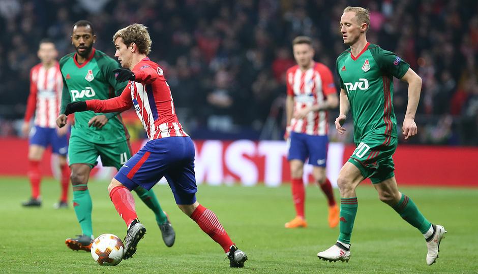 Temp. 17/18 | Ida de octavos | 08/03/18 | Atlético de Madrid - Lokomotiv | Griezmann
