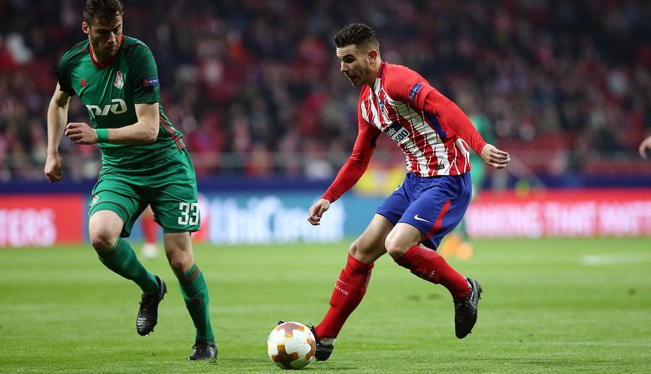 Temp. 17/18 | Ida de octavos | 08/03/18 | Atlético de Madrid - Lokomotiv | Lucas