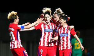 Temp. 17/18 | Jornada 22 | Barcelona - Atlético de Madrid Femenino | Celebración Sonia Bermúdez