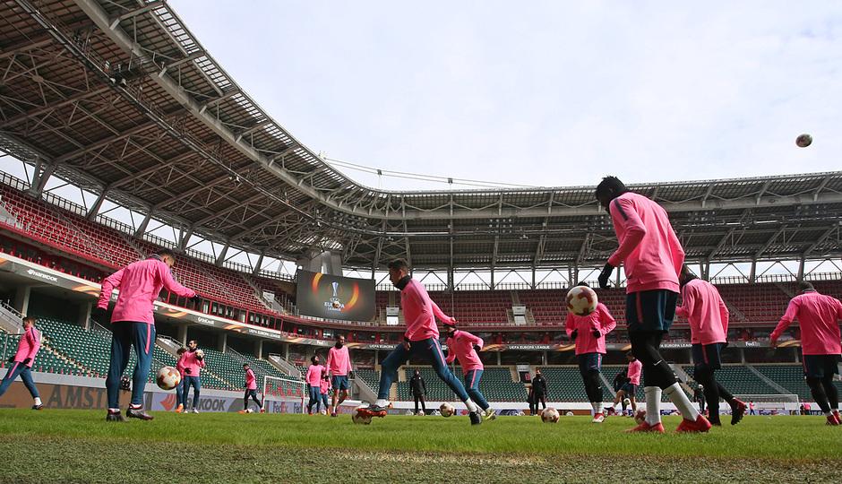 Temp. 17-18 | Entrenamiento en Rusia previo al Lokomotiv-Atleti |