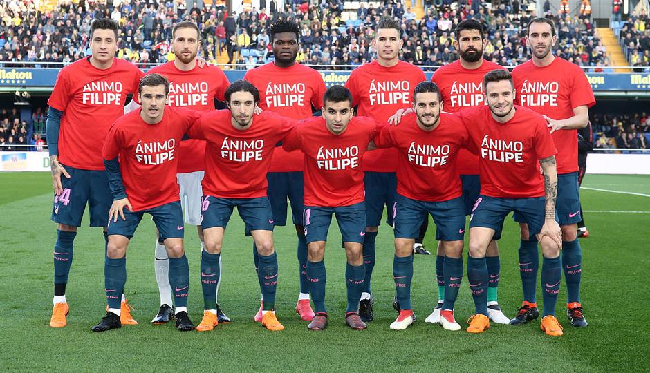 Temp. 17/18 | Jornada 29 | Villarreal - Atleti | Camisetas Filipe en el once