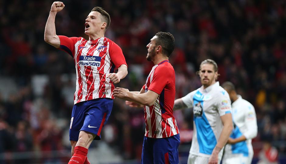 Temp. 17/18 | Atlético de Madrid - Deportivo de La Coruña | 01-04-18 | Jornada 30 | Celebración Gameiro