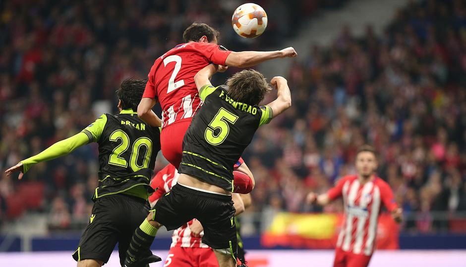 Temp. 17-18 | Atlético de Madrid - Sporting de Portugal | 05-04-2018 | Godín