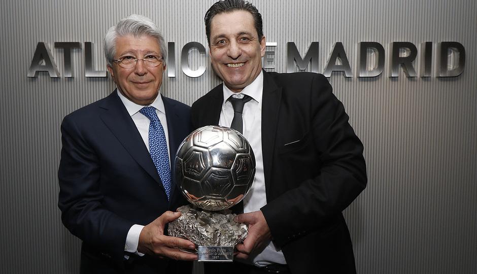 Temp. 17-18 | Atlético de Madrid - Sporting de Portugal | 05-04-2018 | Enrique Cerezo y Paulo Futre