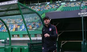 Temp. 17-18   Europa League   Entrenamiento en el José Alvalade   Simeone