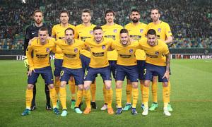 Temp. 17-18   Vuelta de cuartos de la Europa League   12-04-2018   Sporting CP - Atleti   Once titular