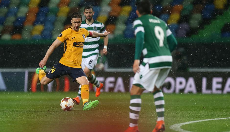 Temp. 17-18 | Vuelta de cuartos de la Europa League | 12-04-2018 | Sporting CP - Atleti | Gabi