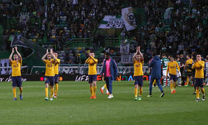 Temp. 17-18   Vuelta de cuartos de la Europa League   12-04-2018   Sporting CP - Atleti   Celebración